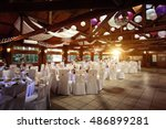amazing luxury decorated place...   Shutterstock . vector #486899281
