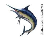 Blue Marlin Striped Marlin On...