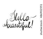 hello beautiful. hand drawn... | Shutterstock .eps vector #486902551