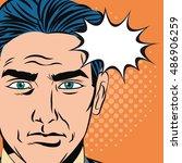 pop art design of man cartoon | Shutterstock .eps vector #486906259