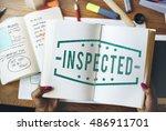 inspected classified original... | Shutterstock . vector #486911701