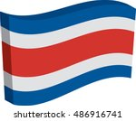 flag of costa rica  officially... | Shutterstock .eps vector #486916741