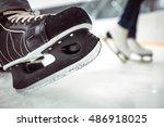 man's hockey and women' figure...   Shutterstock . vector #486918025
