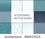 seamless colorful rain drops... | Shutterstock .eps vector #486919225