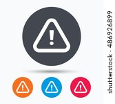 warning icon. attention... | Shutterstock .eps vector #486926899