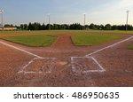 a wide angle shot of a baseball ... | Shutterstock . vector #486950635