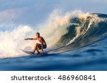 Picture Of Surfing A Wave...