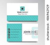 modern business card design    Shutterstock .eps vector #486962929