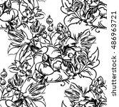 abstract elegance seamless... | Shutterstock .eps vector #486963721