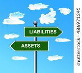 assets liabilities  two way... | Shutterstock .eps vector #486971245
