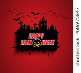 halloween card. | Shutterstock .eps vector #486975847