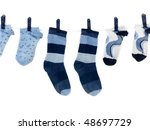Socks Hanging From A Clothes...