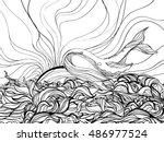 hand drawn vector illustration... | Shutterstock .eps vector #486977524