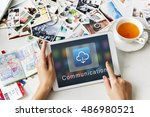 application connection digital... | Shutterstock . vector #486980521