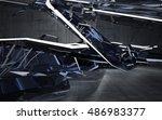 empty dark abstract concrete... | Shutterstock . vector #486983377