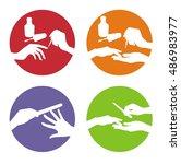 nail polishing  set of manicure ...   Shutterstock .eps vector #486983977