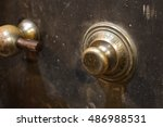 Small photo of Dial lock of an old vault door