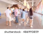 blurred image of  people... | Shutterstock . vector #486993859