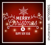 lettering merry christmas and... | Shutterstock .eps vector #487000831