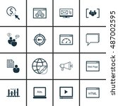 set of seo  marketing  icons on ...