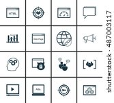 set of seo  advertising icons...