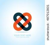 abstract logotype  design...   Shutterstock .eps vector #487012831