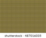 gold mosaic pyramid  tiles.... | Shutterstock .eps vector #487016035