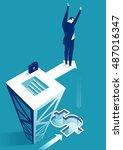 risky business. businessman... | Shutterstock .eps vector #487016347
