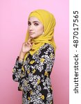 Muslimah Model In Fashionable...
