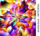 art abstract graphic spherical... | Shutterstock . vector #487018561