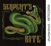 serpent's bite. stylish vector... | Shutterstock .eps vector #487023004