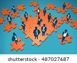 solution. conceptual vector... | Shutterstock .eps vector #487027687