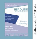 newsletter template for... | Shutterstock .eps vector #487038565