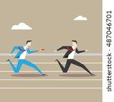 business character illustration.... | Shutterstock .eps vector #487046701