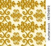seamless gold 3d ornament...   Shutterstock . vector #48704893
