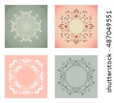 template collection invitation  ... | Shutterstock .eps vector #487049551