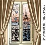 France  Paris   Window With...