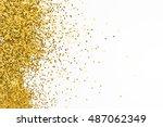 gold border. sequins. golden... | Shutterstock . vector #487062349