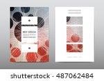 brochure layout template flyer... | Shutterstock .eps vector #487062484
