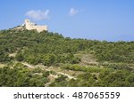 ruins of a castle in kritinia...   Shutterstock . vector #487065559
