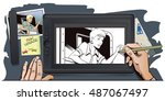 stock illustration. people in... | Shutterstock .eps vector #487067497