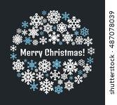 cute snowflake poster  banner.... | Shutterstock .eps vector #487078039