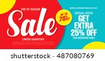 sale banner template design | Shutterstock .eps vector #487080769