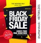black friday sale banner | Shutterstock .eps vector #487081201