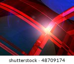 abstract futuristic colorful... | Shutterstock . vector #48709174