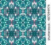 tracery seamless pattern....   Shutterstock . vector #487094974
