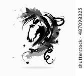 horse | Shutterstock .eps vector #487098325