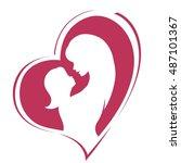 happy mother's day. motherhood... | Shutterstock .eps vector #487101367