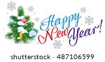 holiday banner with christmas... | Shutterstock .eps vector #487106599