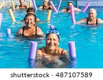Group Of Active Senior Women...